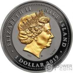 RUBY SCARABAEUS Ancient Symbol Серебро Монета 1$ Ниуэ 2019