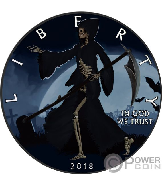LIBERTY REAPER Walking Eagle 1 Oz Silver Coin 1$ USA 2018