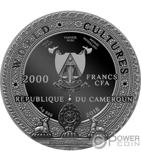 KAPALA World Cultures 2 Oz Silver Coin 2000 Francs Cameroon 2018