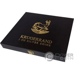 WOODEN CASE Box Etui Krugerrand 1 Oz Display 10 Silber Münzen Holder