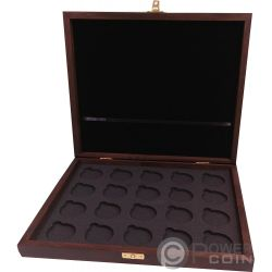 WOODEN CASE Box Cofanetto Legno Krugerrand 1 Oz Display 20 Monete Espositore