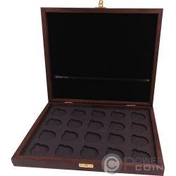 WOODEN CASE Box Krugerrand 1 Oz Display 20 Монеты Holder
