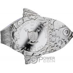 MAKE A WISH Fischträume 2 Oz Silber Münze 2000 Franken Cameroon 2018
