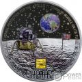 MOON LANDING Aterrizaje Lunar Apollo 11 50 Aniversario 3 Oz Moneda Plata 20$ Cook Islands 2019