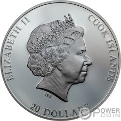 MOON LANDING Высадка на Луну Аполлон 50 Годовщина 3 Oz Монета Серебро 20$ Острова Кука 2019