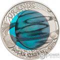 URANUS Niob Solar System Silver Coin 2$ Palau 2018