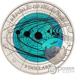 URANUS Urano Niob Solar System Moneda Plata 2$ Palau 2018