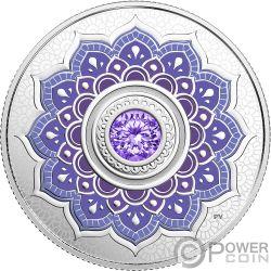 DECEMBER Deciembre Birthstone Swarovski Crystal Moneda Plata 5$ Canada 2018