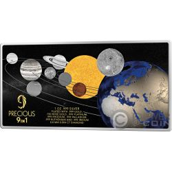 MOON LANDING 50th Anniversary Precious 1 Oz Silver Coin 5$ Solomon Islands 2018