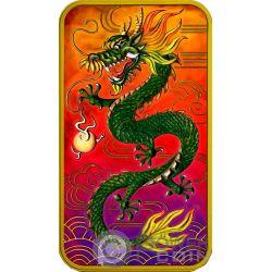 DRAGON Drago Colorata 1 Oz Moneta Argento 1$ Australia 2018