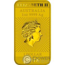 DRAGON Coloreada 1 Oz Moneda Plata 1$ Australia 2018