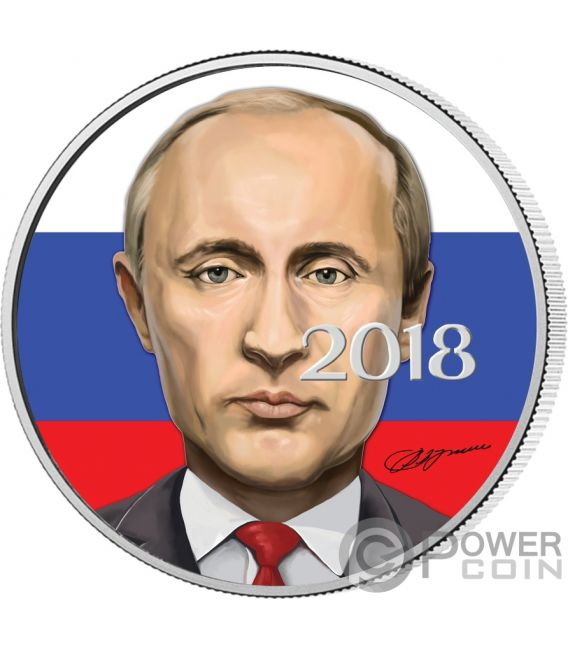 VLADIMIR PUTIN President 1 Oz Silver Coin 3 Rubles Russia 2018