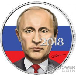 VLADIMIR PUTIN President Präsident 1 Oz Silber Münze 3 Rubles Russia 2018