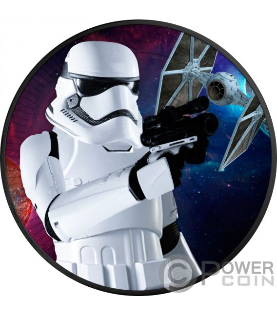 STORMTROOPER Star Wars 1 Oz Silver Coin 2$ Niue 2018