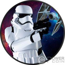 STORMTROOPER Star Wars 1 Oz Moneda Plata 2$ Niue 2018