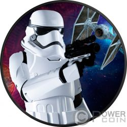 STORMTROOPER Star Wars 1 Oz Moneta Argento 2$ Niue 2018