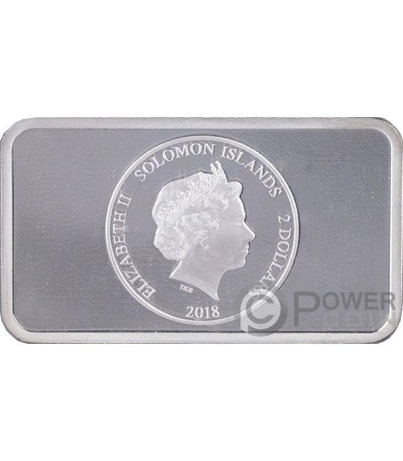 POMPEII Hologram Collection 1 Oz Silver Coin 2$ Solomon Islands 2018