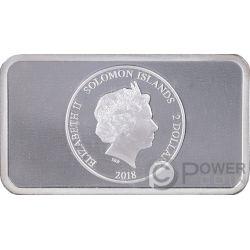 POMPEII Hologram Collection 1 Oz Серебро Монета 2$ Соломонские Острова 2018