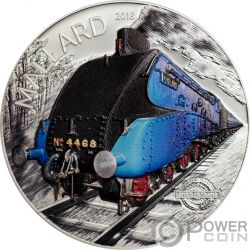 MALLARD Spirit of Trains 2 Oz Silver Coin 10$ Cook Islands 2018