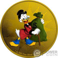 SCROOGE MCDUCK DuckTales Disney 1 Oz Серебро Монета 2$ Ниуэ 2018