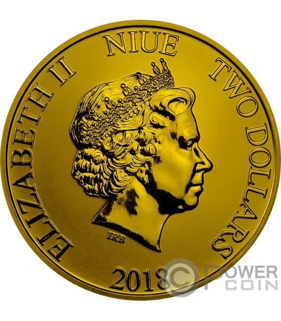 SCROOGE MCDUCK DuckTales Disney 1 Oz Silber Münze 2$ Niue 2018