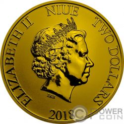 SCROOGE MCDUCK DuckTales Zio Paperone Disney 1 Oz Moneta Argento 2$ Niue 2018