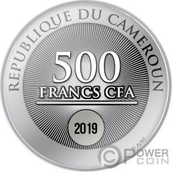 FIRST STAR Natale Moneta Argento 500 Franchi Cameroon 2019