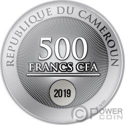 FIRST STAR Navidad Moneda Plata 500 Francos Cameroon 2019