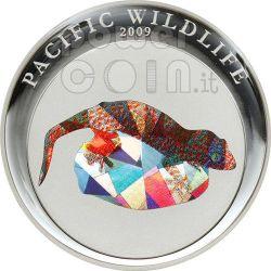 GECKO TOKAI Pacific Wildlife Münze Prism 5$ Palau 2009