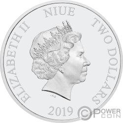 SNOW WHITE Disney Princess Gemstone 1 Oz Серебро Монета 2$ Ниуэ 2019