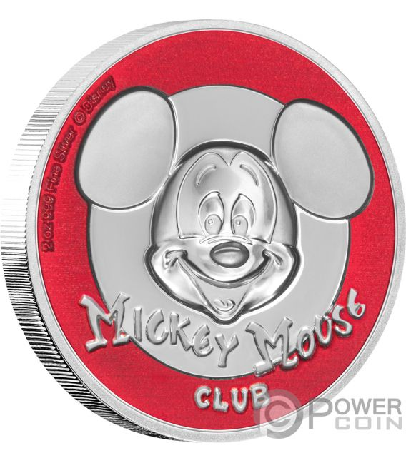 MICKEY MOUSE CLUB Ultra High Relief Disney 2 Oz Silber Münze 5$ Niue 2019