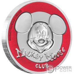 MICKEY MOUSE CLUB Ultra High Relief Disney 2 Oz Серебро Монета 5$ Ниуэ 2019
