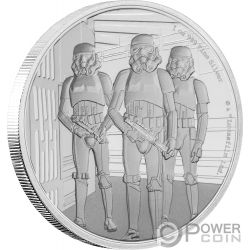 STORMTROOPER Star Wars Classic 1 Oz Silver Coin 2$ Niue 2019