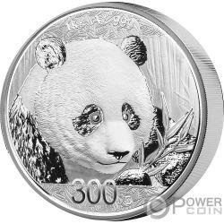 PANDA 1 Kg Kilo Moneda Plata 300 Yuan China 2018