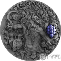 CRONUS Greek Titans 2 Oz Moneta Argento 5$ Niue 2018