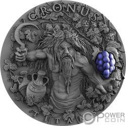 CRONUS Greek Titans 2 Oz Silber Münze 2$ Niue 2018