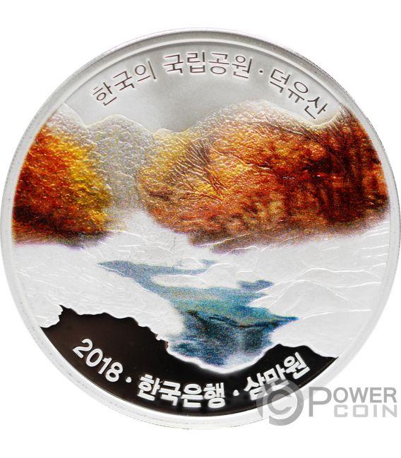 DEOGYUSAN Korean National Parks Silver Coin 30000 Won Korea 2018