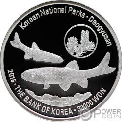 DEOGYUSAN Korean National Parks Moneta Argento 30000 Won South Korea 2018