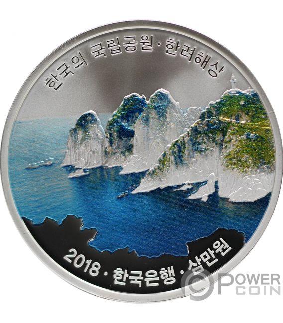 HALLYEOHAESANG Korean National Parks Moneta Argento 30000 Won South Korea 2018