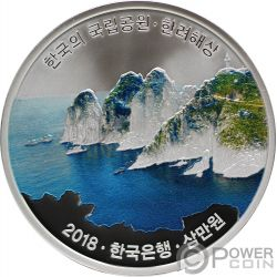 HALLYEOHAESANG Korean National Parks Moneta Argento 30000 Won Korea 2018