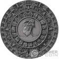 MAYAN CALENDAR Archeology Symbolism 2 Oz Silver Coin 5$ Niue 2018