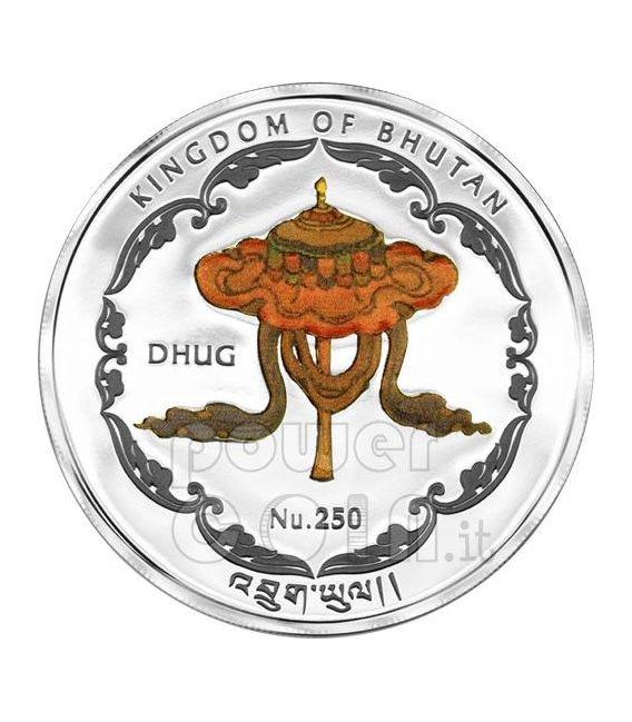 WAT PHO BUDDHA World Heritage Tailandia Moneta Argento Bhutan 2011