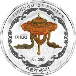 WAT PHO BUDDHA World Heritage Thailand Silber Münze Bhutan 2011