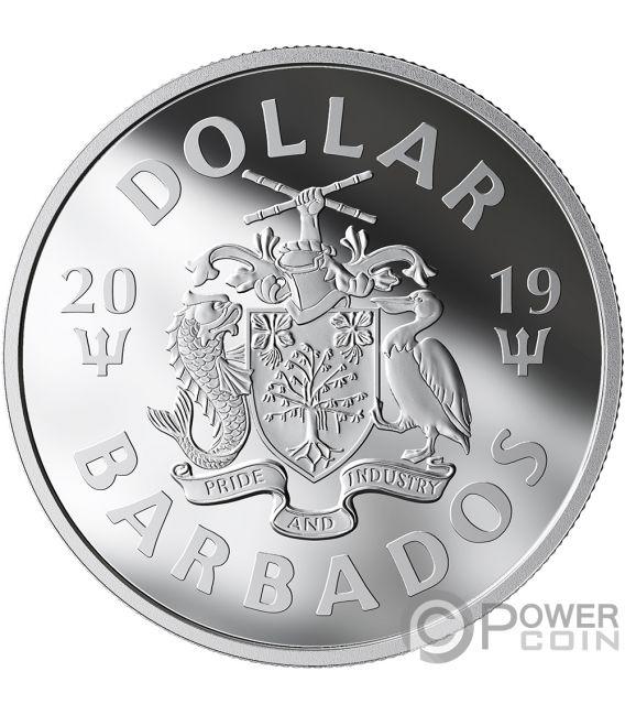 Bat Signal Batman Glow In The Dark Silver Coin 1 Barbados