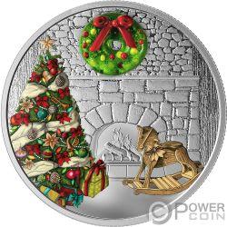 HOLIDAY WREATH Corona Murano Christmas 1 Oz Moneda Plata 20$ Canada 2019