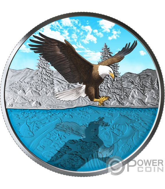 Bald Eagle Reflections 1 Oz Silver Coin 20 Canada 2019
