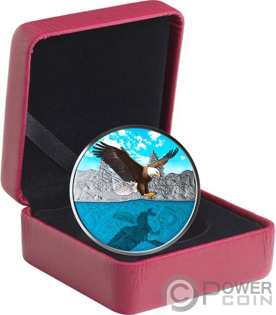 BALD EAGLE Reflections 1 Oz Silver Coin 20$ Canada 2019