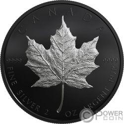 MAPLE LEAF Ahornblatt 30 Jubiläum Limitierte Auflage 2 Oz Silber Münze 10$ Canada 2019