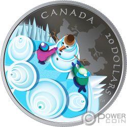 MYSTICAL SNOW DAY Schneetag 1 Oz Silber Münze 20$ Canada 2019