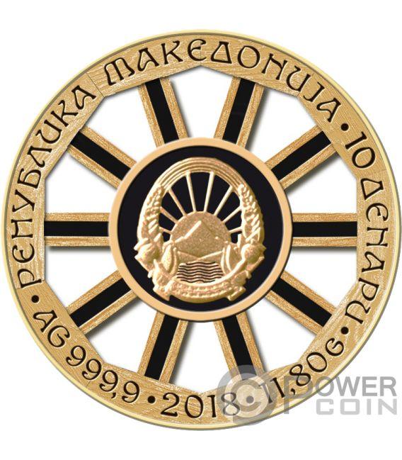 WHEEL OF FORTUNE Luck Silver Coin 10 Denars Macedonia 2018